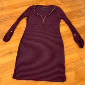 Striped Fall Midi Dress